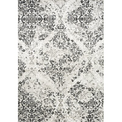 Pointer White Area Rug Rug Size: 53 x 77
