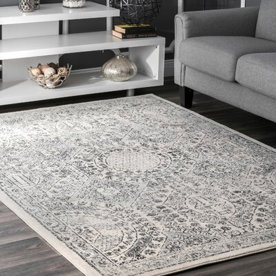London Gray Area Rug Rug Size: Rectangle 4 x 6
