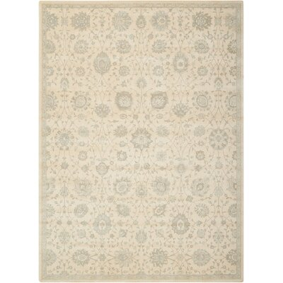 Bourgault Cream Area Rug Rug Size: Rectangle 76 x 106