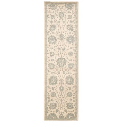 Bourgault Cream Area Rug Rug Size: Runner 23 x 8