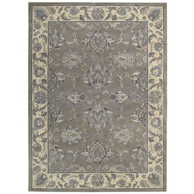 Poulos Hand-Tufted Gray/Beige Area Rug Rug Size: Rectangle 56 x 86