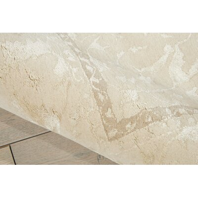 Deslauriers Ivory Area Rug Rug Size: Rectangle 76 x 96