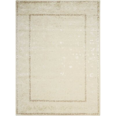 Deslauriers Ivory Area Rug Rug Size: Rectangle 56 x 75