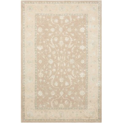 Deslauriers Hand-Tufted Latte Area Rug Rug Size: Rectangle 36 x 56