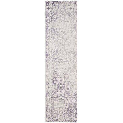 Auguste Lavander/Ivory Area Rug Rug Size: Runner 22 x 10