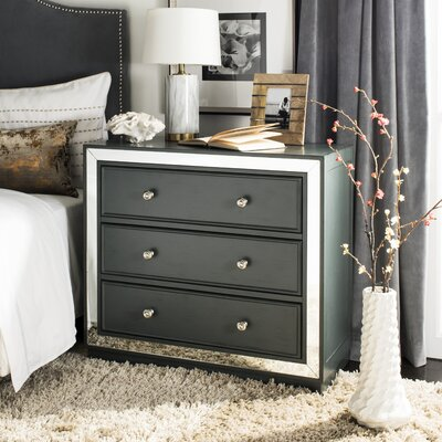 Abasi 3 Drawer Nightstand Color: Steel Teal