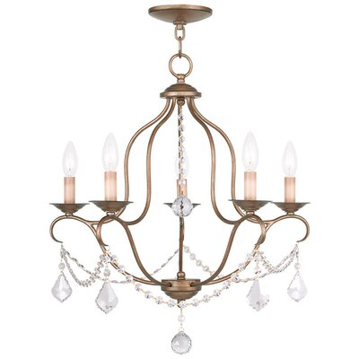 Kendrick 5-Light Candle-Style Chandelier Finish: Antique Gold Leaf