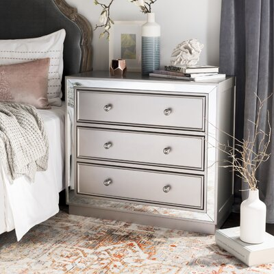 Abasi 3 Drawer Nightstand Color: Champagne