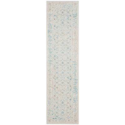 Auguste Turquoise/Ivory Area Rug Rug Size: Runner 22 x 6