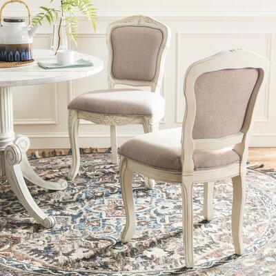 Ambroise Side Chair Color: Antique Beige