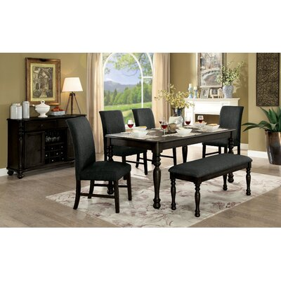 Bloomingdale Transitional Dining Table Color: Dark Gray