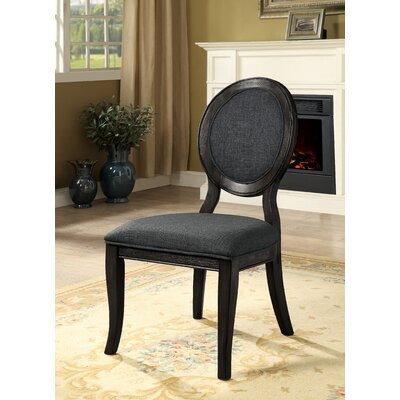 Bloomingdale Transitional Side Chair Color: Dark Gray