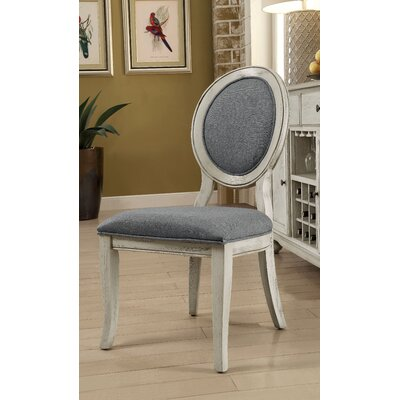 Bloomingdale Transitional Side Chair Color: Antique White