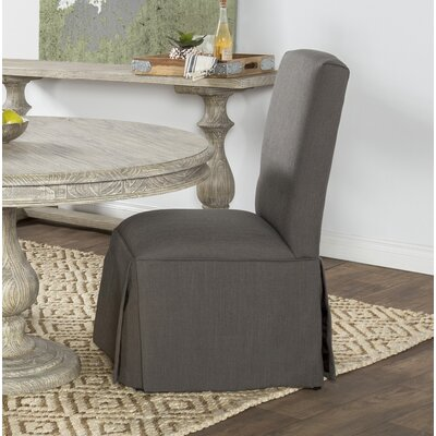 Preiss Upholstered Dining Chair Upholstery: Dark Gray