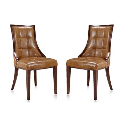 Fien Upholstered Dining Chair Upholstery: Camel