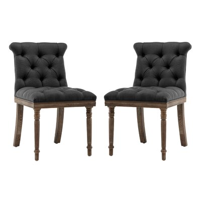 Ligia Upholstered Dining Chair Upholstery Color: Charcoal