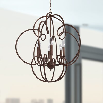 Anastagio 6-Light Candle-Style Chandelier