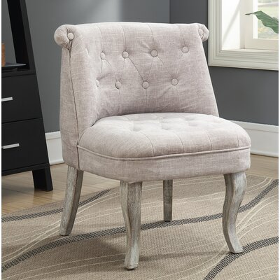 Kaat Tufted Fabric Slipper Chair