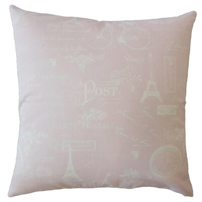 Daniele Typography Down Filled 100% Cotton Throw Pillow Size: 18 x 18, Color: Pink