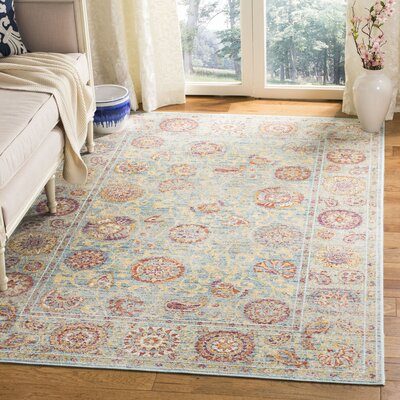 Shady Dale Light Blue Area Rug Rug Size: Rectangle 53 x 76
