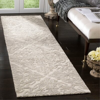 Burkhart Hand Tufted Wool Ivory Area Rug Rug Size: Runner 23 x 8