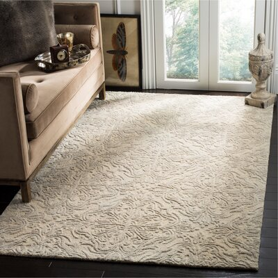 Burkhart Hand Tufted Wool Ivory Area Rug Rug Size: Rectangle 8 x 10