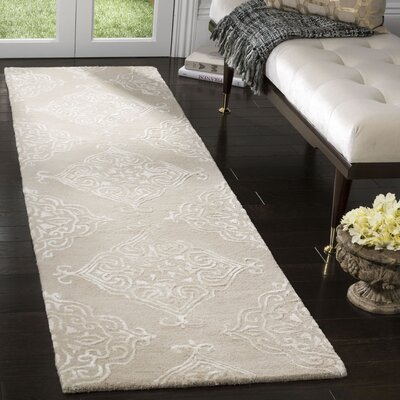 Bernon Hand Tufted Beige Area Rug Rug Size: Runner 23 x 8