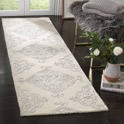 Bernon Hand Tufted Ivory Area Rug Rug Size: Runner 23 x 8