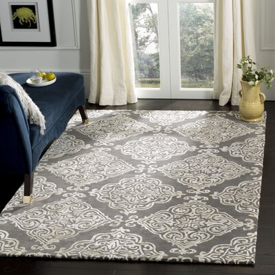 Bernon Hand Tufted Dark Gray Area Rug Rug Size: Rectangle 5 x 8