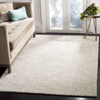 Bernon Hand Tufted Beige Area Rug Rug Size: Rectangle 8 x 10