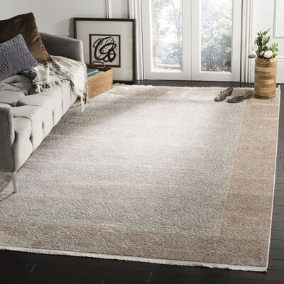 Pulliam Beige Area Rug Rug Size: Rectangle 6 x 9