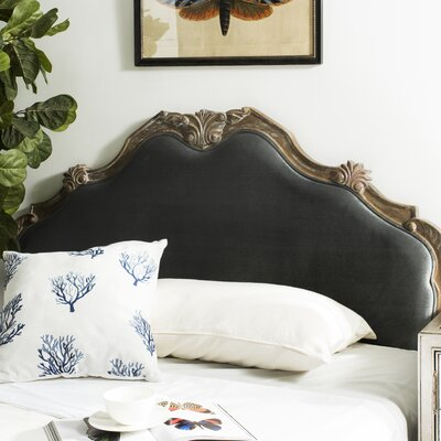 Amott Upholstered Panel Headboard Size: Queen, Upholstery: Gray