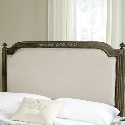 Oshields Upholstered Panel Headboard Size: Queen, Color: Rustic Oak