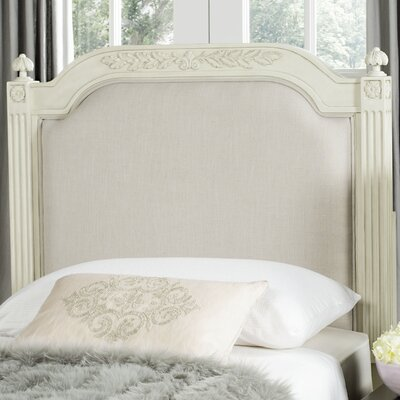Oshields Upholstered Panel Headboard Size: Twin, Color: Antique Beige