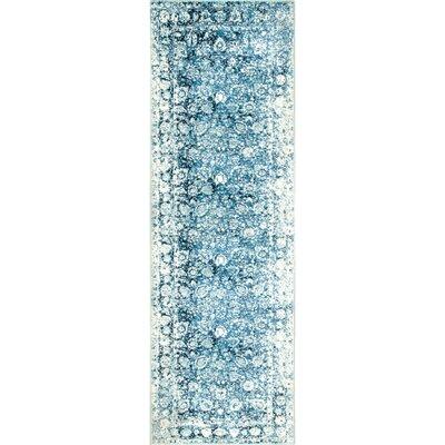 Lavardens Blue/White Area Rug Rug Size: Runner 26 x 10