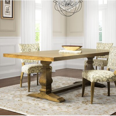 Dedrick Maple Dining Table Color: Distressed Flax, Size: 29.75 H x 96 W x 42 D
