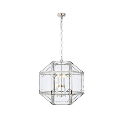 Puccio 4-Light Foyer Pendant Finish: Polished Nickel