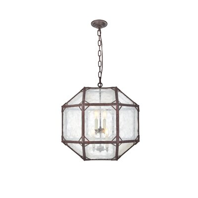Puccio 4-Light Foyer Pendant Finish: Saddle Rust