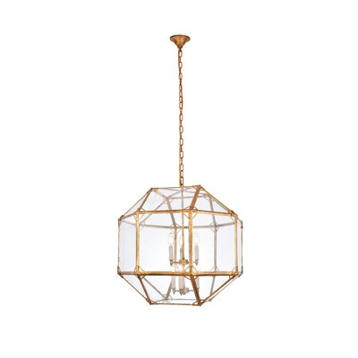 Puccio 6-Light Foyer Pendant Finish: Golden Iron