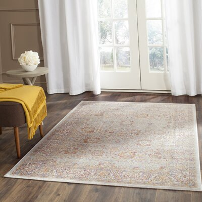 Shady Dale Silver/Ivory Area Rug Rug Size: Rectangle 4 x 57