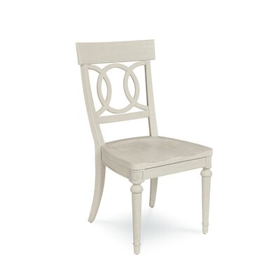 Carrie Wood Dining Chair (Set of 2) Color: White