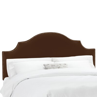 Orta Shantung Panel Upholstered Headboard Size: Twin, Color: Shantung Chocolate