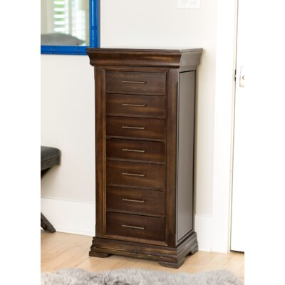 Galiena Wood Jewelry Armoire with Mirror