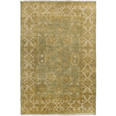 Talence Dark Brown/Olive Oriental Area Rug Rug Size: 2 x 3
