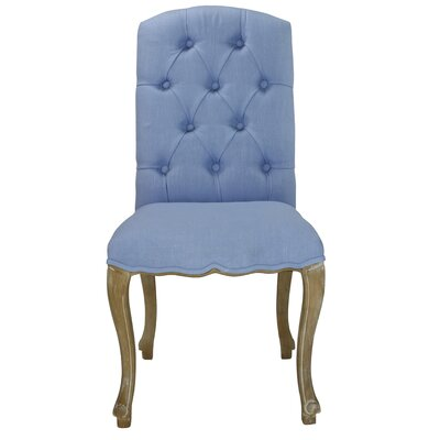 Aucoin Estelle Designer Upholstered Dining Chair Upholstery: Serenity Blue