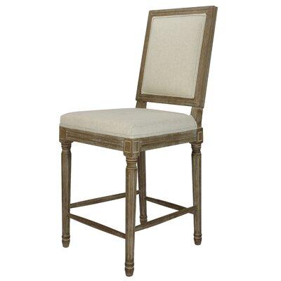 Auclair 24 Bar Stool Upholstery: Beige