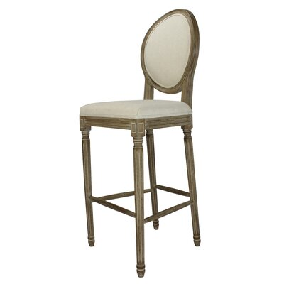 Auclair 30 Bar Stool Upholstery: Beige