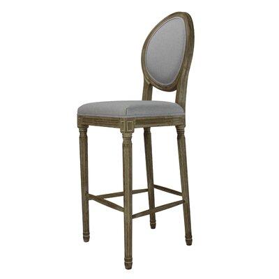 Auclair 30 Bar Stool Upholstery: Gray