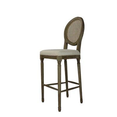 Auclair 30 Bar Stool Upholstery: Cane Beige