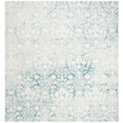 Auguste Turquoise/Ivory Area Rug Rug Size: Square 67